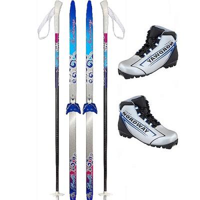 Беговые лыжи Nordway JUNIOR NNN red палки и ботинки