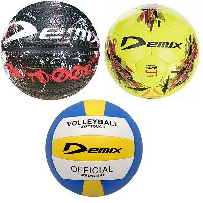 Мячи футбольный, волейбольный, баскетбольный