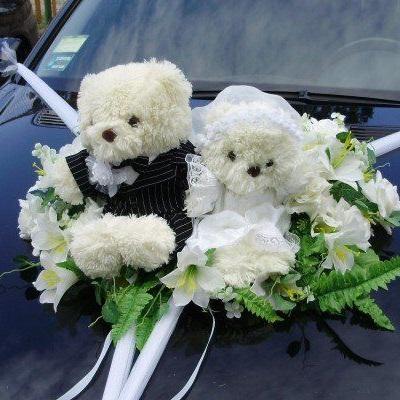 мишки на главную свадебную машину